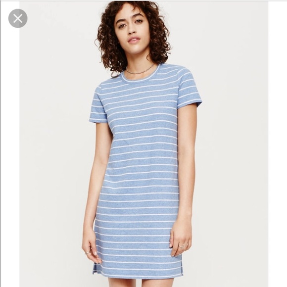 24c383527f5dbc Lou & Grey Dresses & Skirts - Lou & Grey Blue Stripe T shirt Dress